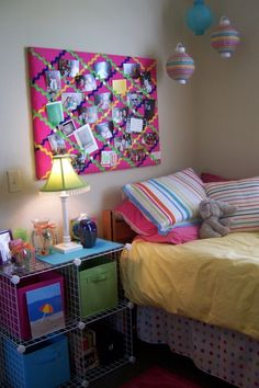 My Second Year of Colorful Dorm Life, My second year back at college and a new better yet still colorful dorm room., Dorm Rooms Design