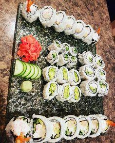 Home made sushi dynamite rolls California roll avocado roll cucumber roll #healthyeats  #healthylifestyle #japanese  #californiaroll #avacadoroll #avacado #best #sushi #chicken #crab #cucumber #rice #seaweed #healthylife #healthyrecipes #foodlover  #greekyogurt #delishious #tasty #protein  #selftaught #masterchef #foodporn #foody #foodlover #cleaneating #dinnertime  #family  #wasabi  #seaweed #weightloss