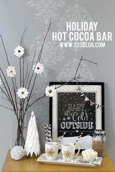 Holiday Hot Chocolate Bar made with Cricut Explore by 733Blog. #DesignSpaceStar Round 4