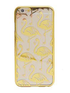 iPhone 6 Plus Gold Flamingo Case   Skinnydip London