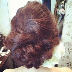 #ヘア#ヘアセット#ヘアメイク#ヘア#ブライダル#hair#bridal#wedding#編み込み#トリートドレッシング#花嫁#結婚式#アップスタイル#hairstyle