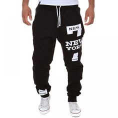 Cheap casual men pants, Buy Quality men pants skinny directly from China fashion men pants Suppliers: Mens Joggers Fashion Casual men Pants Skinny Joggers Hip Hop sweatpants Harem Pants Mens Joggers Sweatpants, Cotton Sweatpants, Skinny Joggers, Sweatpants Style, Fashion Sweatpants, Jogger Pants Style, Baggy, Black M, Color Black