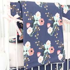Blanket - Berkeley's Navy & Blush Floral