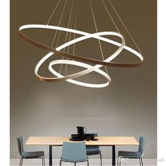 Modern Circular Ring Pendant Lights 3/2/1 Circle Rings Acrylic Aluminum Body Led Lighting Ceiling Lamp Fixtures For Living Room Dining Room Pendant Fixture Industrial Pendant Lamp From Ledzzmall, $84.93| Dhgate.Com