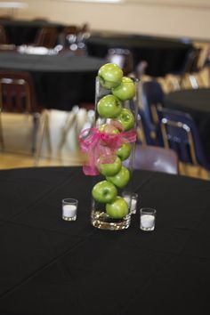 Wedding Centerpiece with Green Apples
