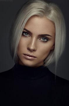 Sleek Silver Hair