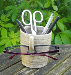 glasses spectacles bedside organiser stoneware by CaractacusPots, £13.99