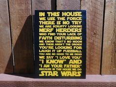 In This House We Do Star Wars - Painted Canvas by CraftsOfAGeekyMommy on Etsy