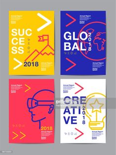 View top quality illustrations of Annual Report 2018 Future Business Template Layout Design Cover Book Vector Colorful Infographic Abstract Flat Background. Find premium, high-resolution illustrative art at Getty Images. Web Design, Layout Design, Design De Configuration, Graphic Design Trends, Graphic Design Posters, Graphic Design Inspiration, Flyer Design, Poster Designs, Vector Design