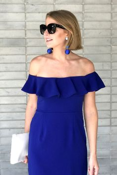 The Camilyn Beth 'Iris' Dress in Royal | Summer Vacation Dress | Summer Wedding Attire