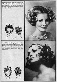 """Set 'n Style 1972 """"fun do's from the flirty thirties""""  - I think I'll hear my hair like this today ;p"""