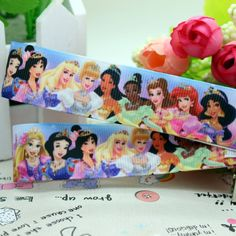 New 7/8'' Free shipping 10 of princess cartoon printed ribbon grosgrain hairbow diy party decoration wholesale OEM 22mm P1531-in Ribbons from Apparel & Accessories on Aliexpress.com $18