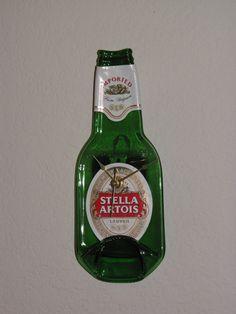 Stella Artois Beer Melted Bottle Clock on Etsy, $19.00