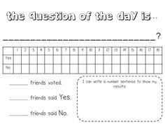 The Reading Corner: Math Notebooks, Question of the Day, Calendar Chevron Classroom, Classroom Fun, Teaching Math, Kindergarten Math, Maths, Teaching Ideas, Question Of The Day, This Or That Questions, Daily Five Math