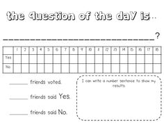 Question of the Day recording page FREEBIE - so great!!! I do this daily and a recording sheet for parents SCORE