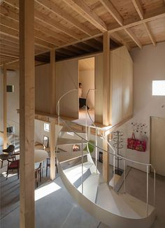 Home Decoration With Paper Flowers Scandinavian Architecture, Minimalist Architecture, Interior Architecture, Facade Design, Staircase Design, House Design, Cabin Interiors, Wood Interiors, Tiny Loft