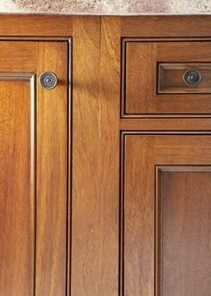 More examples of cabinet refacing - Kitchen Cabinet Details On Pinterest Cabinet Refacing
