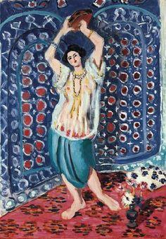 Henri Matisse  - Odalisque with Tambourine (Harmony in Blue),1926