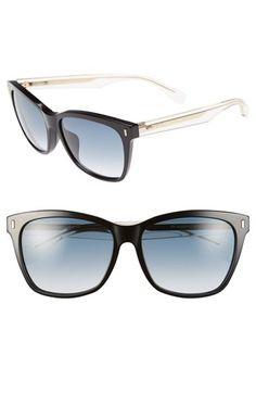 Women's Fendi 56mm Special Fit Sunglasses - Black/ Crystal