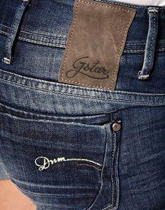 gstar shorts for spring. Denim Jeans Men, Denim Shirt, Leather Label, Mini Shorts, Latest Fashion Clothes, Garra, Manish, Mens Fashion, Star