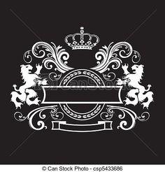 Vector - Vintage royal shield - stock illustration, royalty free illustrations, stock clip art icon, stock clipart icons, logo, line art, EPS picture, pictures, graphic, graphics, drawing, drawings, vector image, artwork, EPS vector art