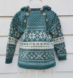 Snøhetta anorak and sweater von SiSiVeAS auf Etsy Knitting For Kids, Free Knitting, Knitting Projects, Baby Knitting, Crochet Baby, Knit Crochet, Knitting Patterns, Tejido Fair Isle, Wooly Bully