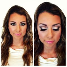 Love the shimmery eyes and how they pop Bridal Make Up, Wedding Make Up, Wedding Stuff, Dream Wedding, Wedding Ideas, Kiss Makeup, Hair Makeup, Special Occasion Makeup, Makeup Tips