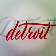 lovely #Detroit #lettering by @Molly Jacques