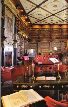 library of Hatfield House in England.