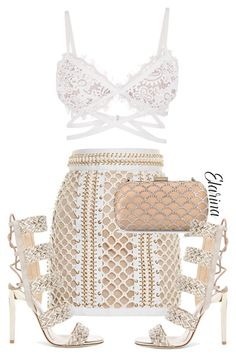 """Outfit"" by elarina ❤ liked on Polyvore featuring Balmain, Sergio Rossi and Jimmy Choo"