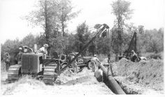 vintage pipeline welding pictures | Old Pipe Install