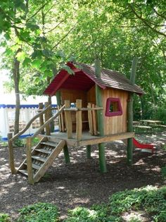 Play house on stilts Closer to the ground than a tree house, Aka for toddlers and senior citizens!