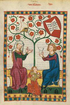 Codex Manesse, fol. 271r, 1305-1340, Zürich.