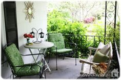 Lovely Front Porch - Pretty Chairs