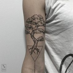 Tree tattoo (3) - illustrative arm tattoo on TattooChief.com