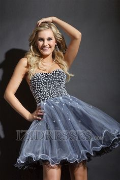 Ball Gown  Princess Sweetheart  Strapless Organza Dress for Prom