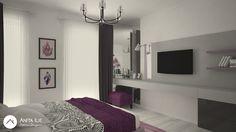 Bedroom design by Anita Ilie Casa Patrata Bedroom Ideas, Flat Screen, Interior Design, Projects, Houses, Blood Plasma, Nest Design, Log Projects, Blue Prints