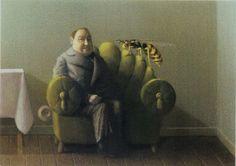 Postcard - Michael Sowa - Man With Wasp - 005 Michael Sowa, Edward Gorey, Carl Larsson, Rene Magritte, Magic Realism, Surreal Art, Tim Burton, Book Illustration, Illustrations Posters