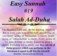 Ad-Duha salah - Sunnah Prophet Muhammad s. Islamic Qoutes, Islamic Teachings, Islamic Inspirational Quotes, Islamic Dua, Religious Quotes, Inspiring Quotes, Allah Islam, Islam Quran, Islam Muslim