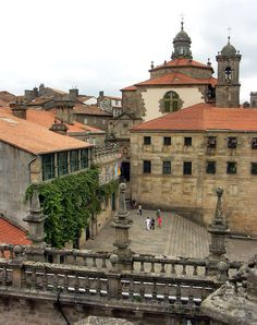 Santiago de Compostela, plaza de la Quintana. Galicia. España