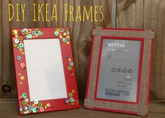 Picture Frame Crafts using IKEA frames.  So simple and so cute.