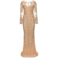 Zuhair Murad - Floor-length embellished silk gown #dress #zuhairmurad #blacktie #women #designer #covetme
