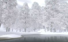 lake in the snow - Google Search