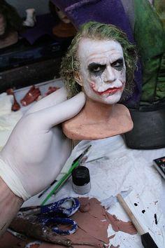 Heath Ledger's The Joker sculpture