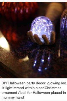 Awesome crystal ball idea for Halloween!