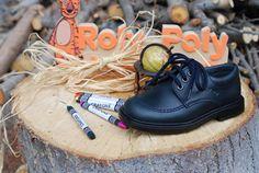 Calzado colegial para niño de piel de Roly Poly calzado infantil.