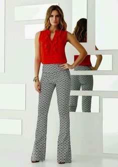 45814735f2 Gosto da combinaçao de cores e modelo da calça