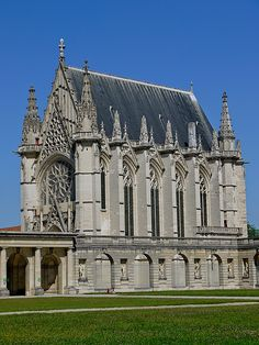 The Sainte-Chapelle de Vincennes is a Gothic chapel within the fortifications of the Château de Vincennes near Paris, France. It was founded in 1379 by Charles V of France to house relics of the passion of Christ.  by y.caradec