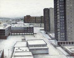 Window View at Sighthill, Edinburgh  by Donald Provan