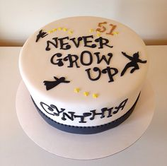 Never Grow Up Peter Pan cake by Kristy Dax | cakesbykristy.com